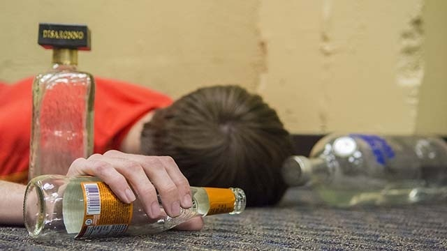 the best thing to do for a friend who passes out after consuming alcohol is __________.-2